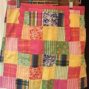 Lilly Pulitzer Multi-Patch Skirt Size 8
